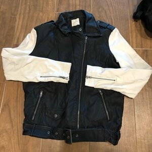 Faux Leather Urban Outfitters Bomber Jacket